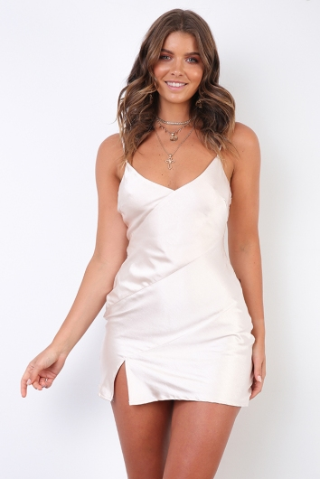 Jenna Dress - Champagne Silky