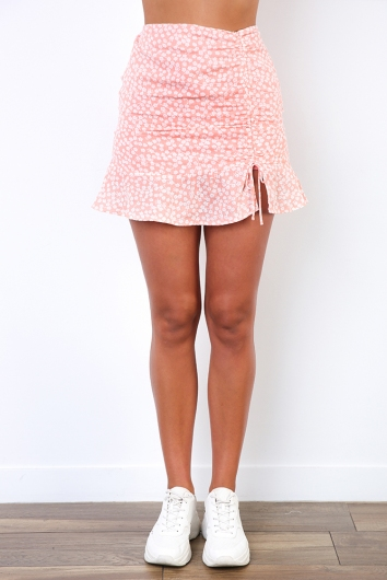 Ashley Skirt - Pink Print