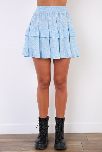 Geni Skirt - Blue Print