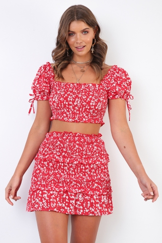 Pheobe Top - Red Print