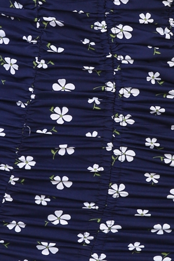 Get To It Dress - Navy Floral