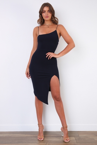 For Now Dress - Navy