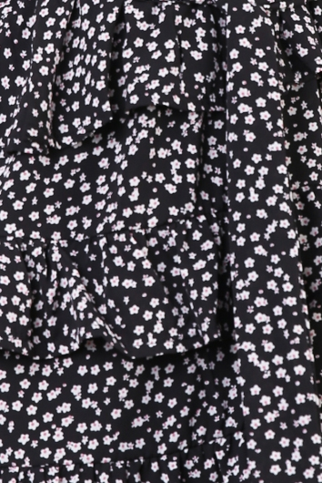Face To Face Dress - Black Floral