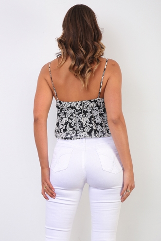 Makala Top - Black Print