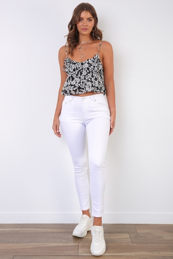 Agnese Jeans - White