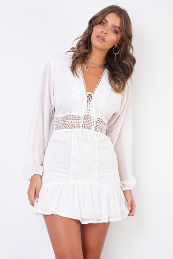 Clarence Dress - White