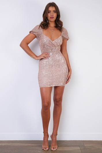 Dirty Dancing Dress - Gold Sequin