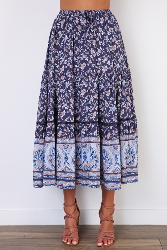 Bailie Skirt - Mix Blue