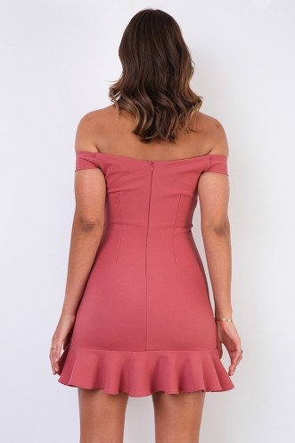 Pick Up The Pieces Dress - Rose