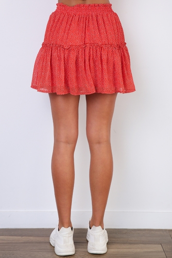 New Beginnings Skirt - Red Print
