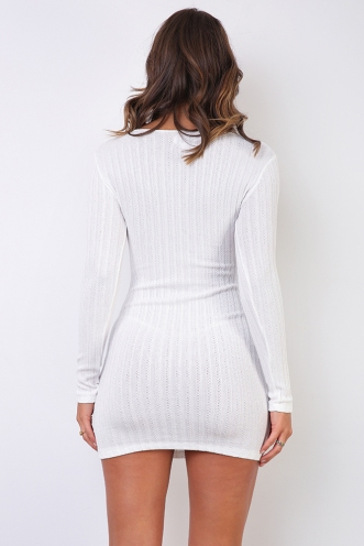 Ebony Dress - White