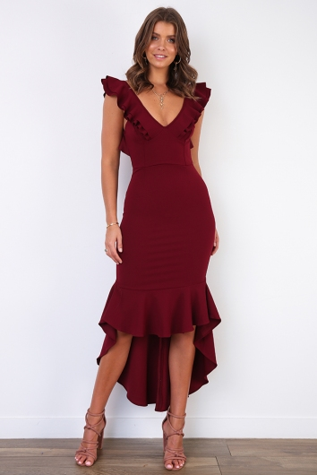 Haylee Dress- Plum