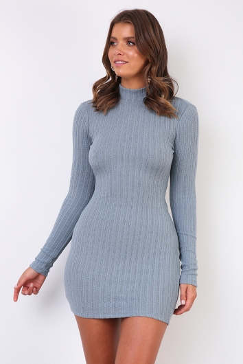 Marny Dress - Steel Blue