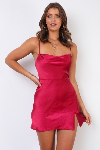 Lorena Dress - Maroon
