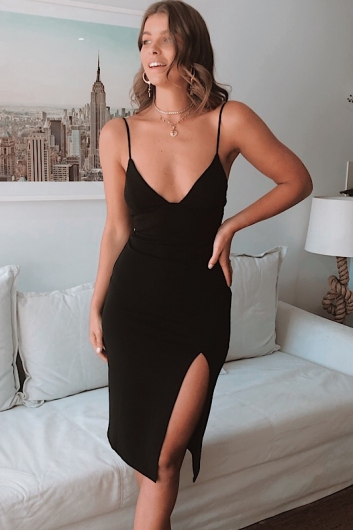 When The Party's Over Dress - Black