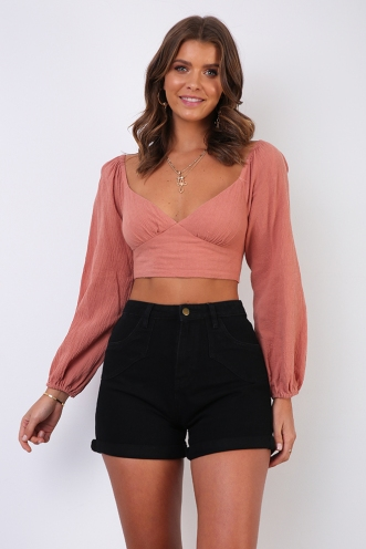 Zilona Top - Dusty Pink