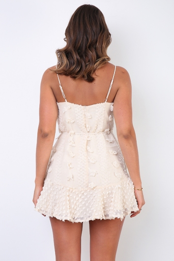 From Paris With Love Dress - Beige