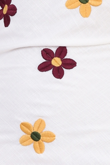 Peggy Dress - Linen Embroidered