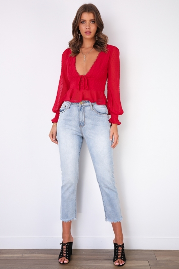 Taylor Top - Red