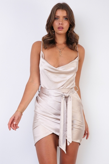 Stevierose Dress - Champagne