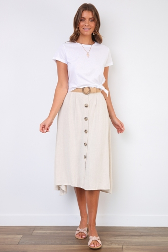 Sunday Market Skirt- Cream