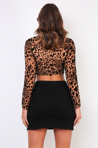 Celine Top - Leopard Burnout