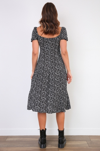 Karli Dress - Black Print
