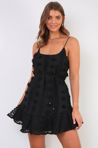 From Paris With Love Dress - Black