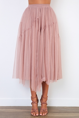 Crystal Skirt - Blush
