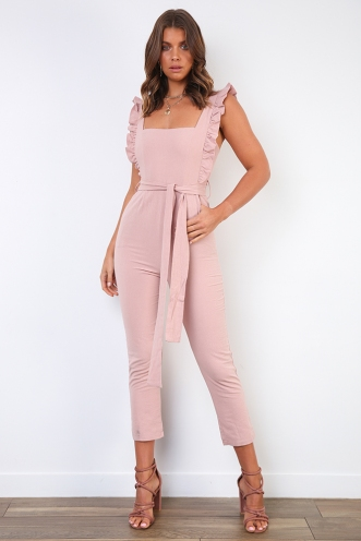 New York Minute Jumpsuit - Blush