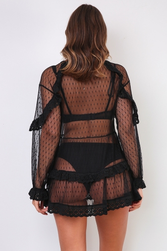 Bespoke Dress - Black Mesh