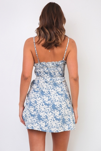 Georgie Dress - Blue Print