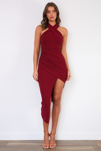 Tahnee Evening Dress - Maroon
