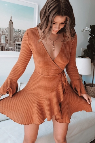 Shealee Dress - Terracotta
