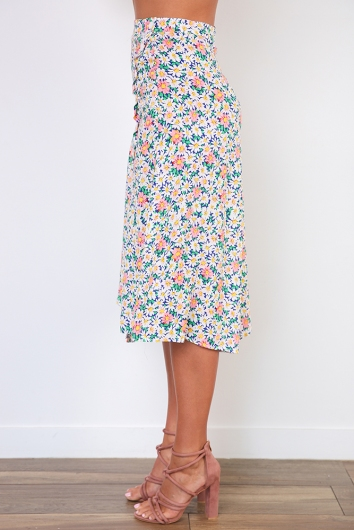 George Alice Skirt- Pink/White/Green Floral