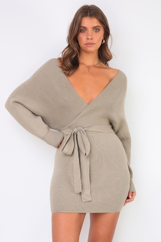Eyes Wide Open Dress - Olive