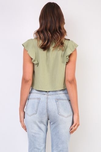Right Party Top - Olive