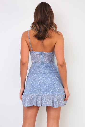 Day Dreaming Dress - Blue Print