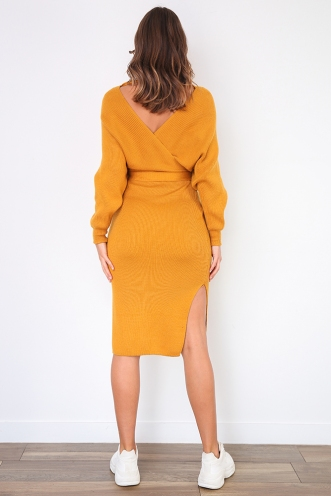 Genny Dress - Mustard