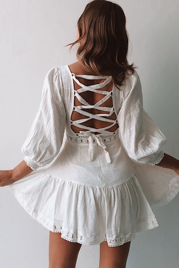 Mandy Dress - Off White