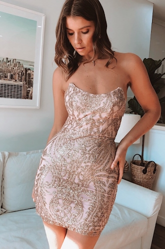 Boo Thang Dress - Gold Glitter