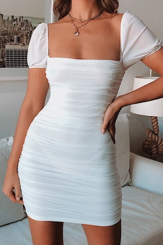 Hayley James Dress-White