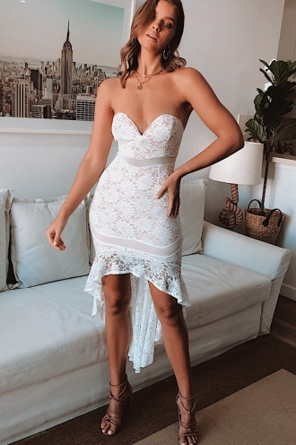 Tia Tia Dress - White/Beige