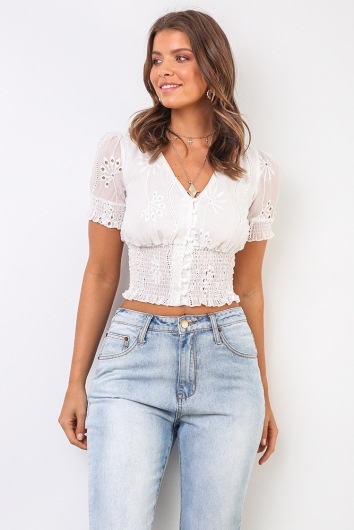 Kels Top - White
