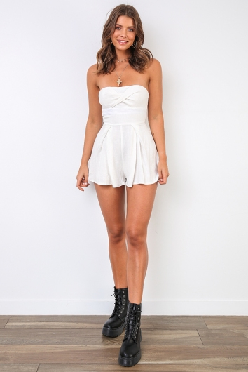 Ashi Playsuit - White