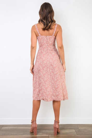 Mikayla Dress - Pink Print