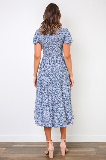 Tiffy Dress - Blue Print