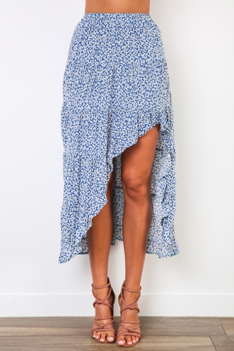 Emmie Skirt - Blue Print