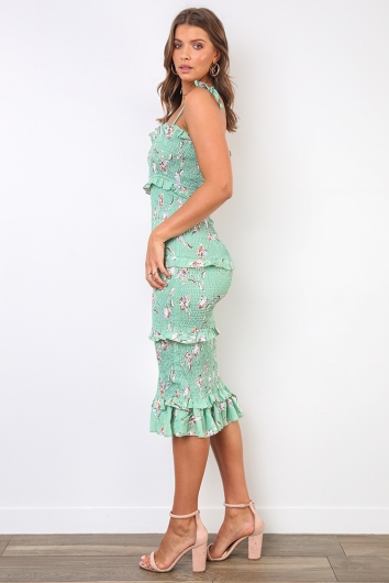 Nurys Dress - Mix Green