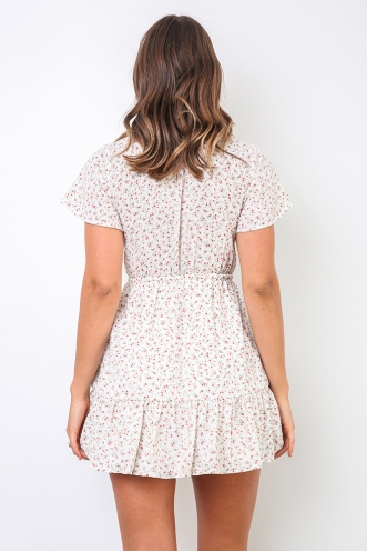 Sharna Dress - White Floral